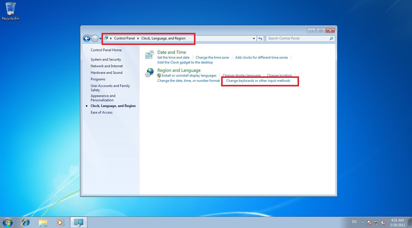 how to get line in in win 7