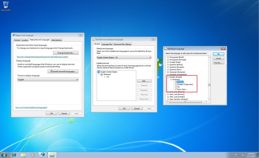 How to Install the Cyrillic Keyboard for Windows 7 on Your